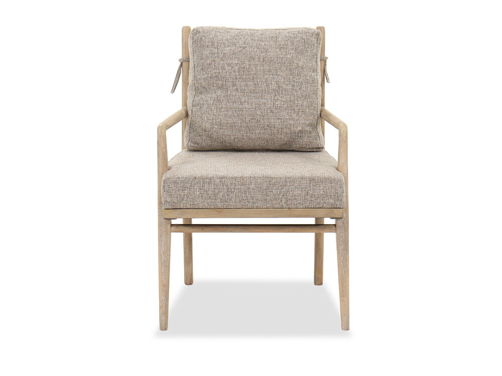 """34.5"""" Casual Arm Chair in Buff Almond"""