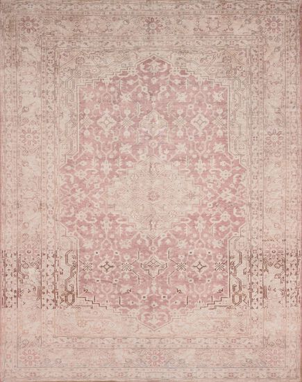 "Traditional 2'-3""x3'-9"" Rug in Terracotta/Ivory"
