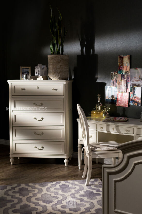 Contemporary Vanity Desk in Light White