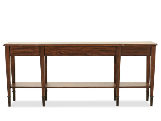 Traditional Console Table in Medium Wood