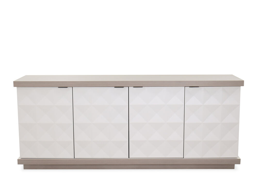 """Transitional 78.5"""" Buffet in Linear White"""