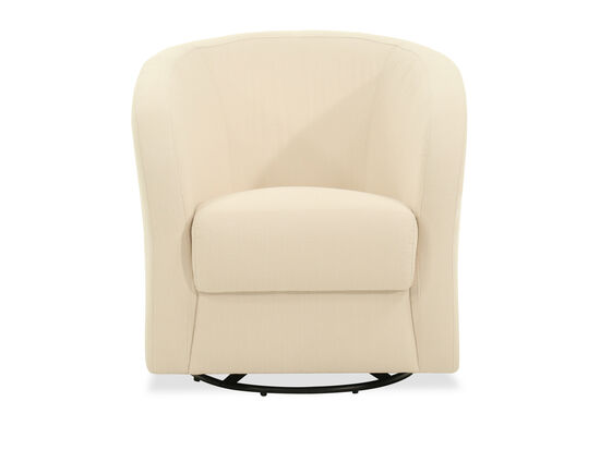 Tub Style Casual Swivel Chair in Beige