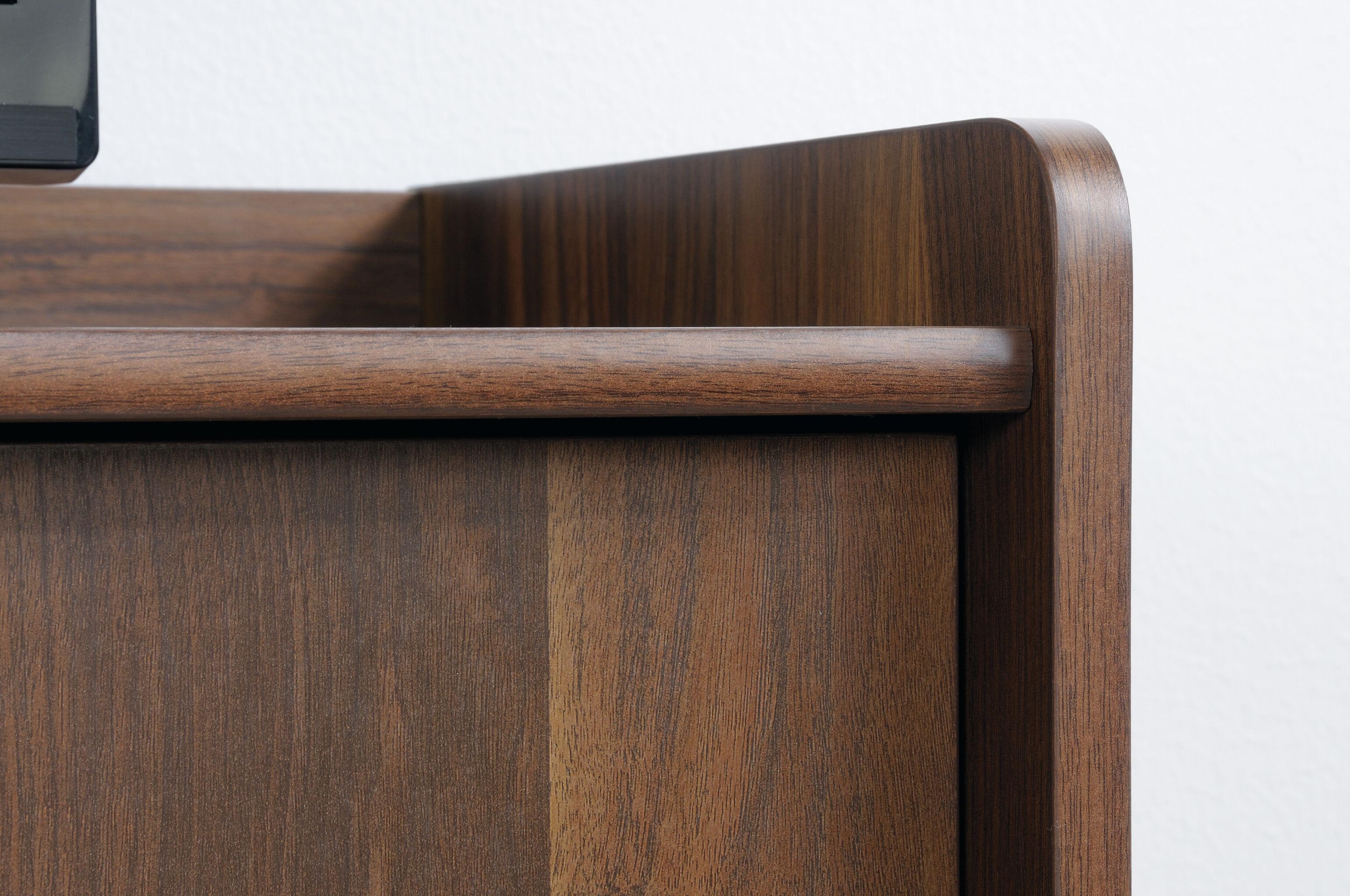 Credenza Dark Wood : Dark wood credenza minimalist in legno con ante a