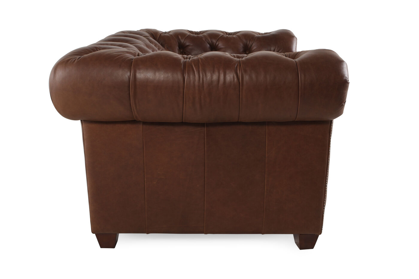 On Tufted Leather 42 Chair In Russet Brown