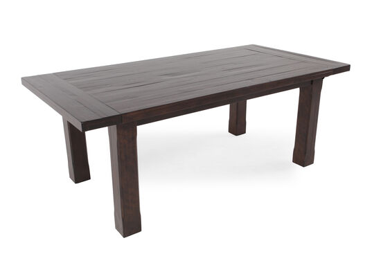 """Transitional 80"""" to 112"""" Planed Top Dining Table in Rustic Pine"""