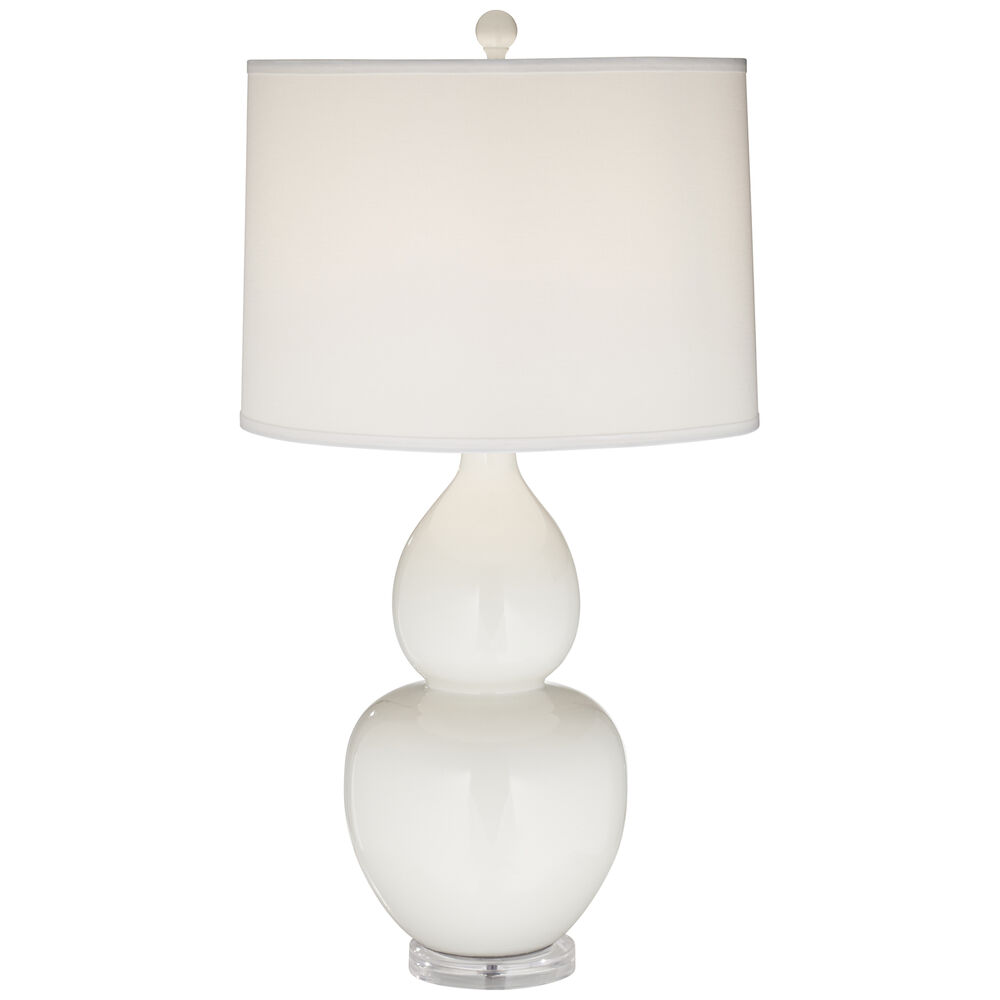 Contemporary Table Lamp in White