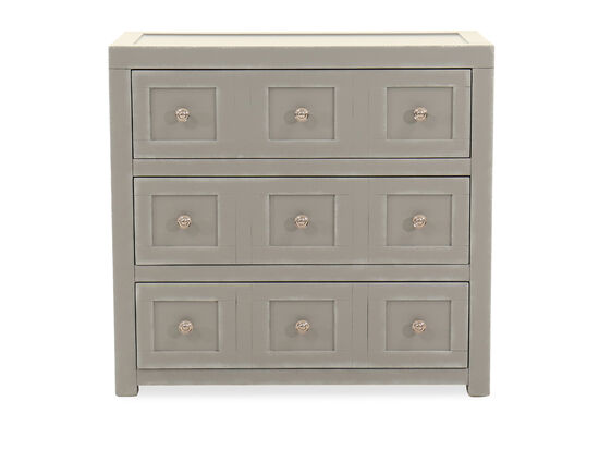 32'' Three-Drawer Casual Accent Chest in Gray