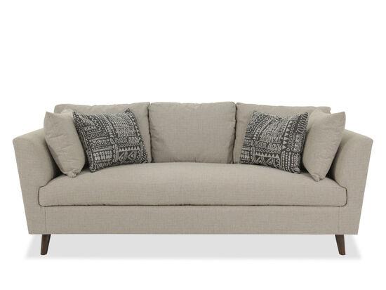 "Mid-Century Modern 86"" Shelter Sofa in Beige"