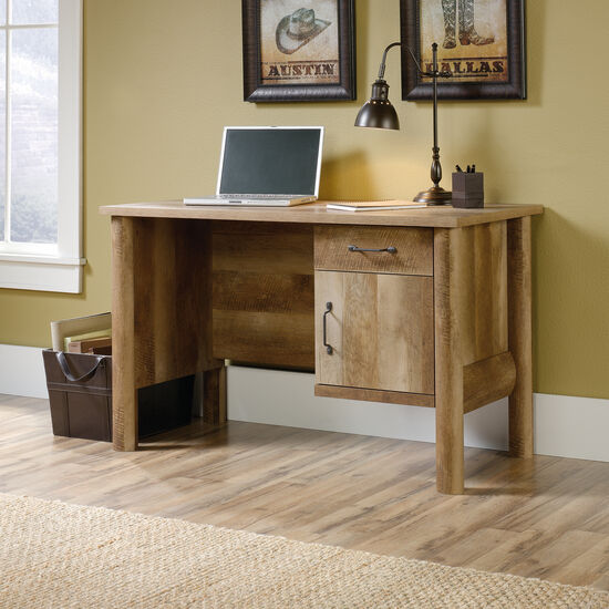 "47"" Casual One-Drawer Desk in Craftsman Oak"