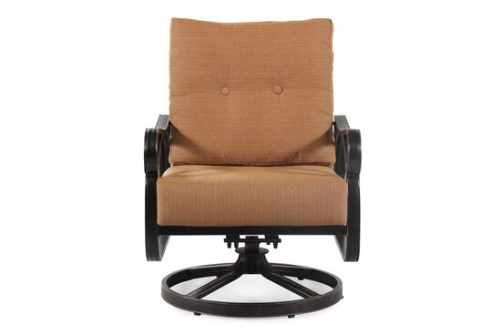 Textured Aluminum Swivel Chair in Brown