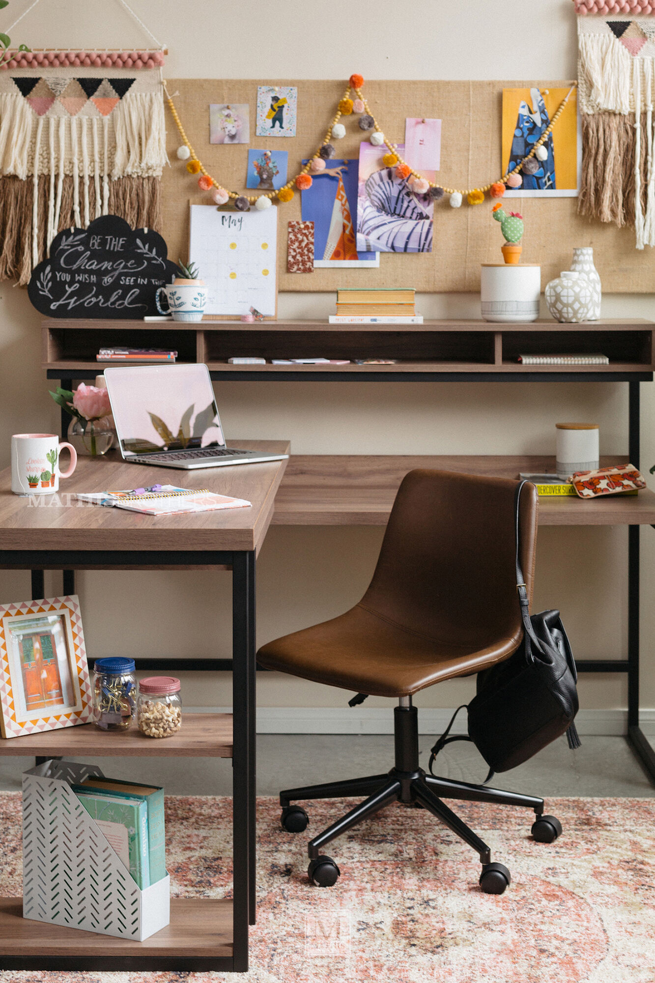 61&Quot Casual L Shaped Desk In