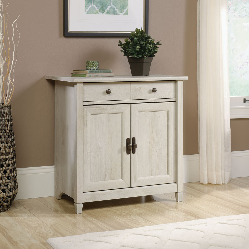 Two-Door Contemporary Utility Stand in Chalked Chestnut