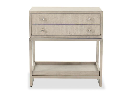 "18"" Contemporary One-Drawer Nightstand in Oak"