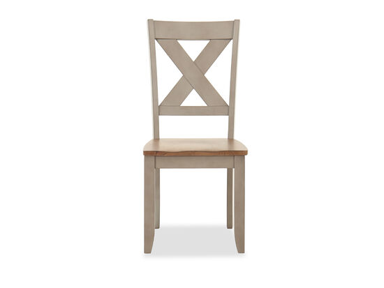 """Casual 40"""" X-Back Side Chair in Gray/Brown"""