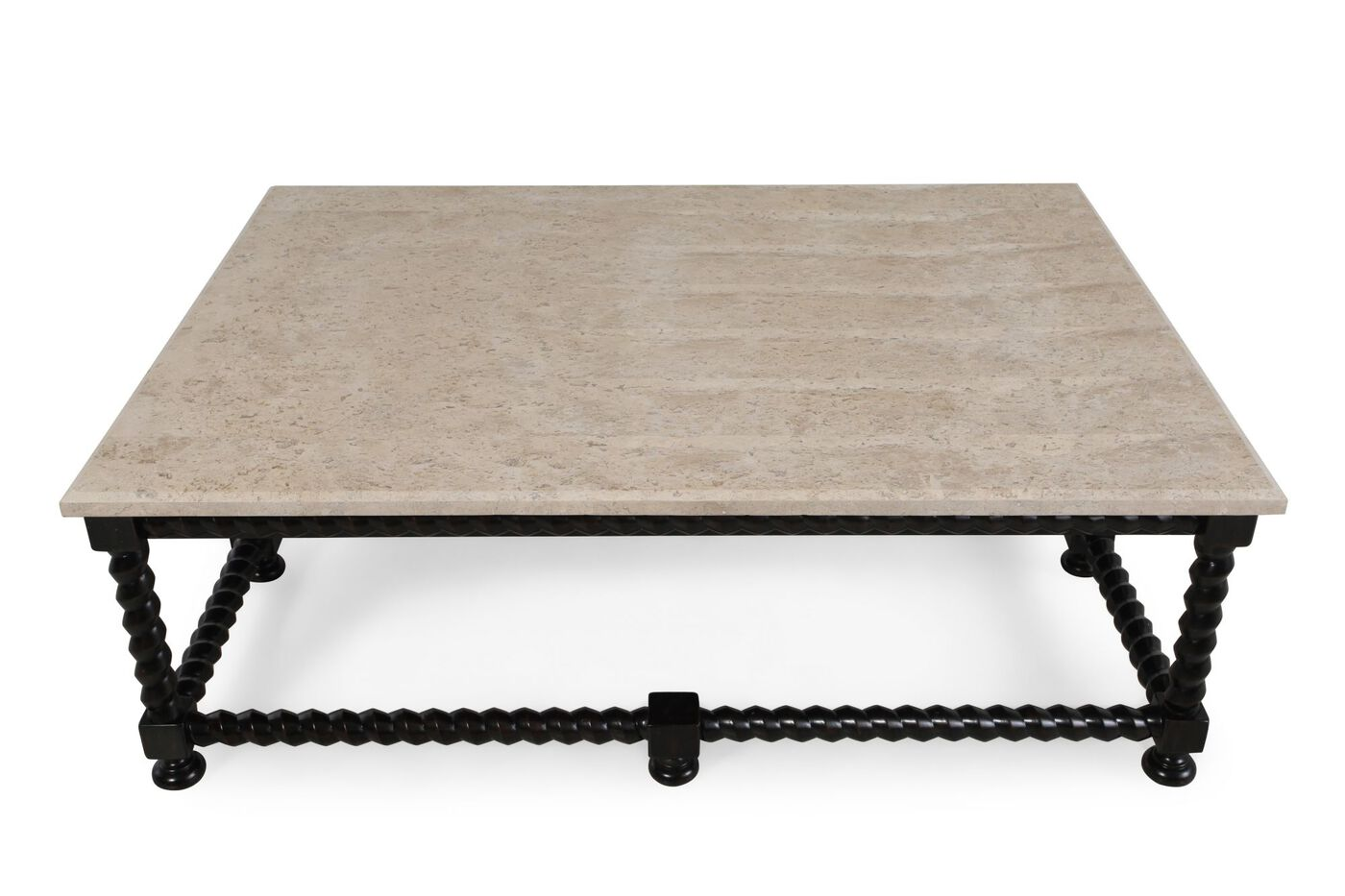 Stone top contemporary cocktail table in black mathis brothers furniture Stone coffee table top