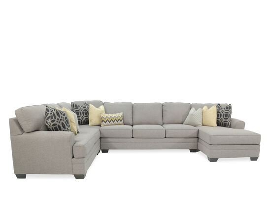 Four Piece Contemporary 155 Sectional In Gray