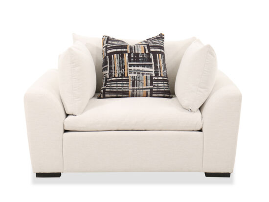 """Contemporary 43"""" Chair in White"""