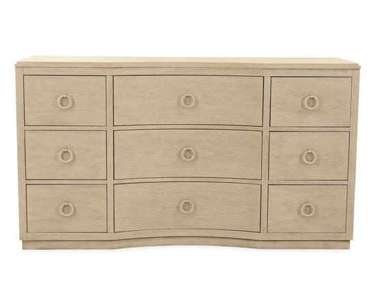 "37"" Casual Nine-Drawer Dresser in Brown"