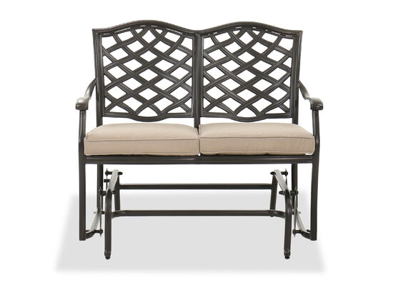 Cast Aluminum Bench Glider in Brown