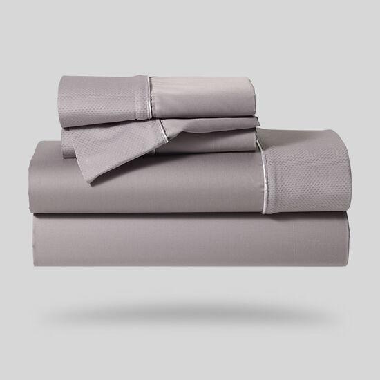Five-Piece Hyper-Cotton Queen Sheet Set In Gray
