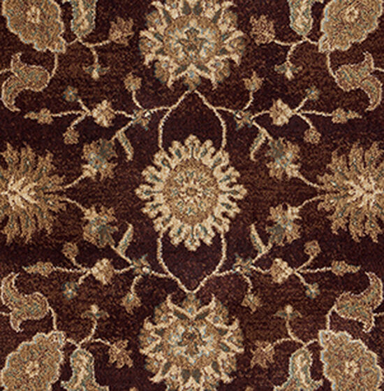 """Traditional Power Loomed Double Pointed Designs 6'7""""  x  9'6"""" Rectangle Rug in Burgundy"""