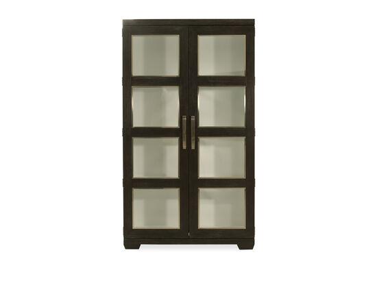 Glass Door Display Cabinet in Cerused Mink