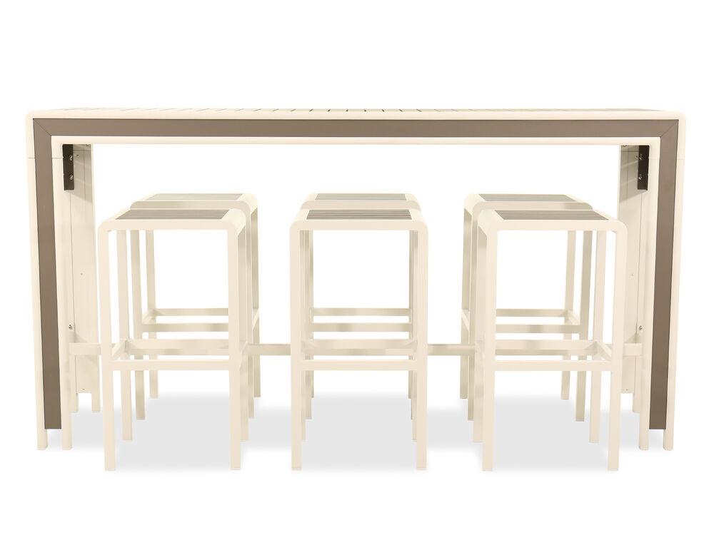 Seven-Piece Aluminum Bar Set in White