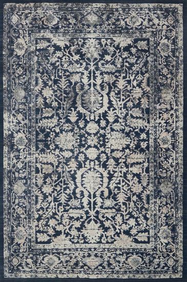 "Transitional 2'-7""x4' Rug in Indigo/Indigo"
