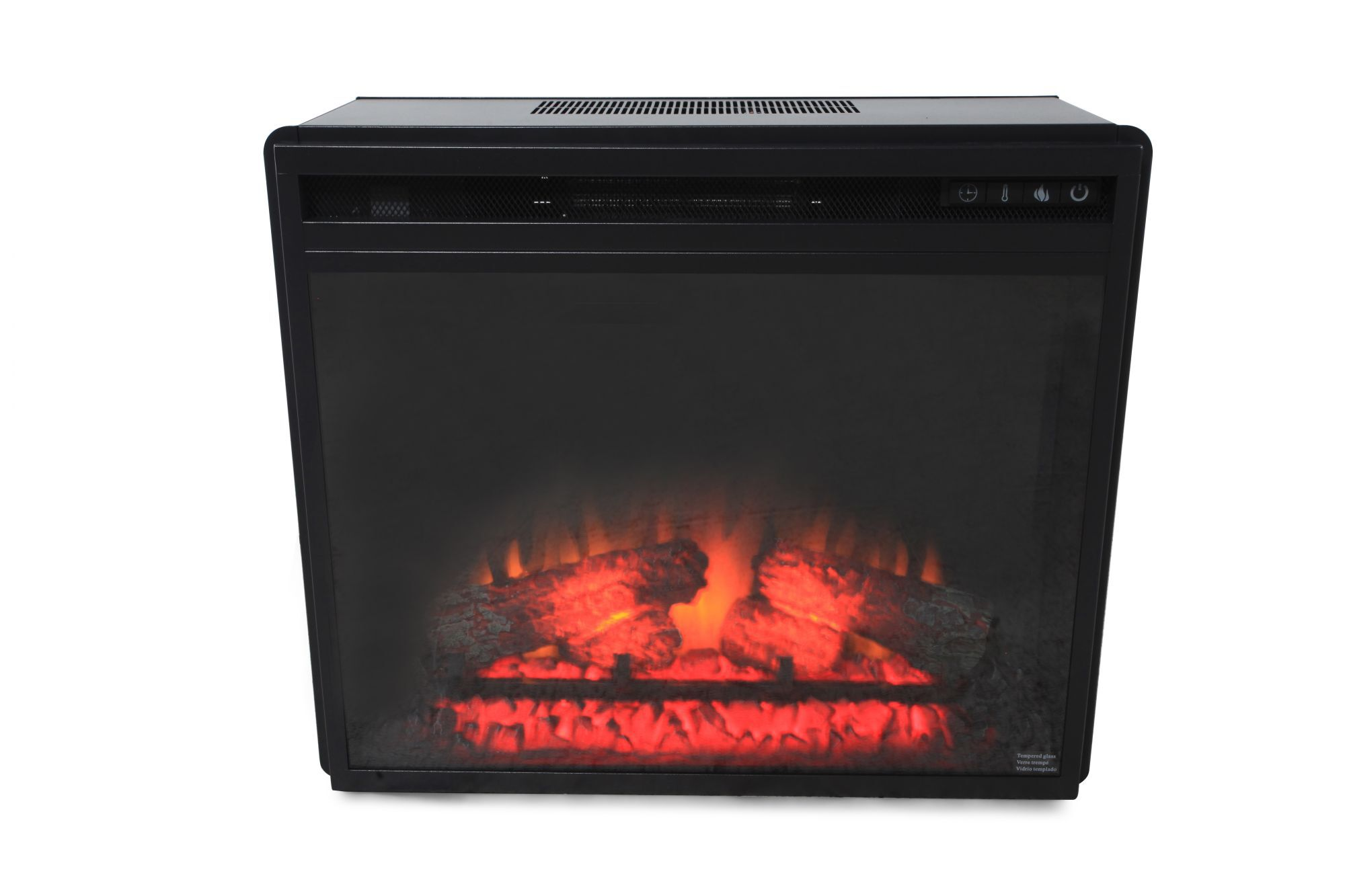 20 Remote Controlled Contemporary Fireplace Insert In Black