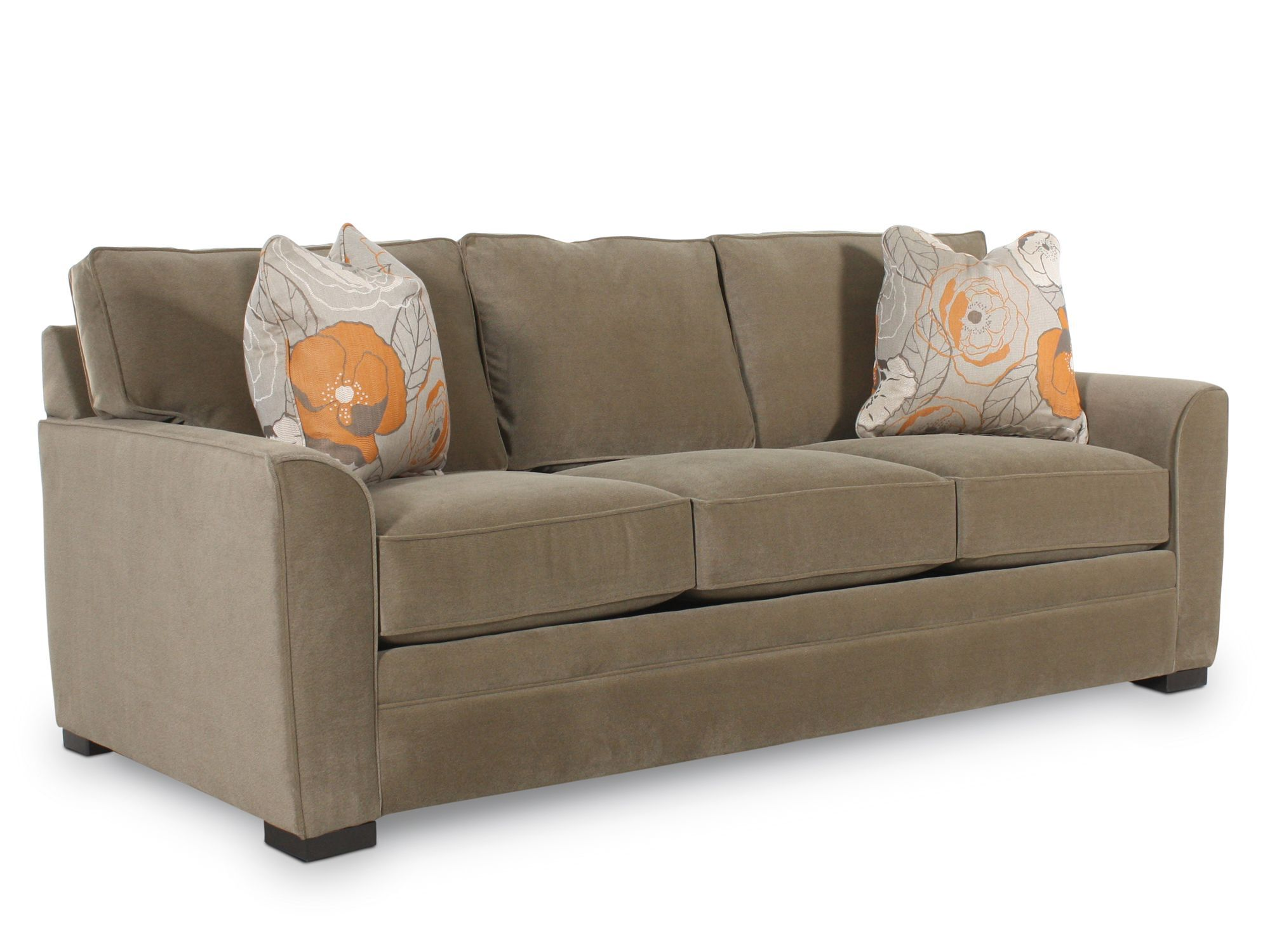 Traditional Queen Sleeper Sofa in Brown   Mathis Brothers ...