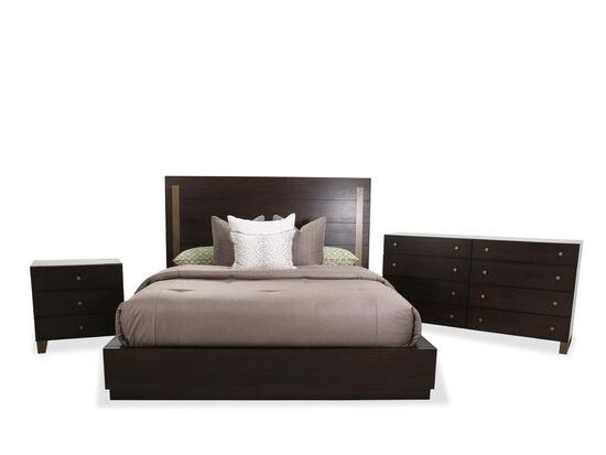 Four-Piece Modern King Bed Set in Dark Barton