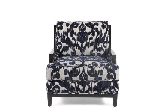 """Tapestry Patterned Contemporary 37"""" Accent Chair"""
