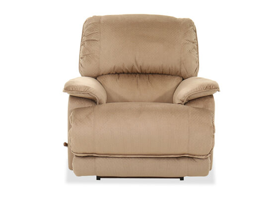 "41"" Contemporary Pillow Arm Rocking Recliner in Brown"
