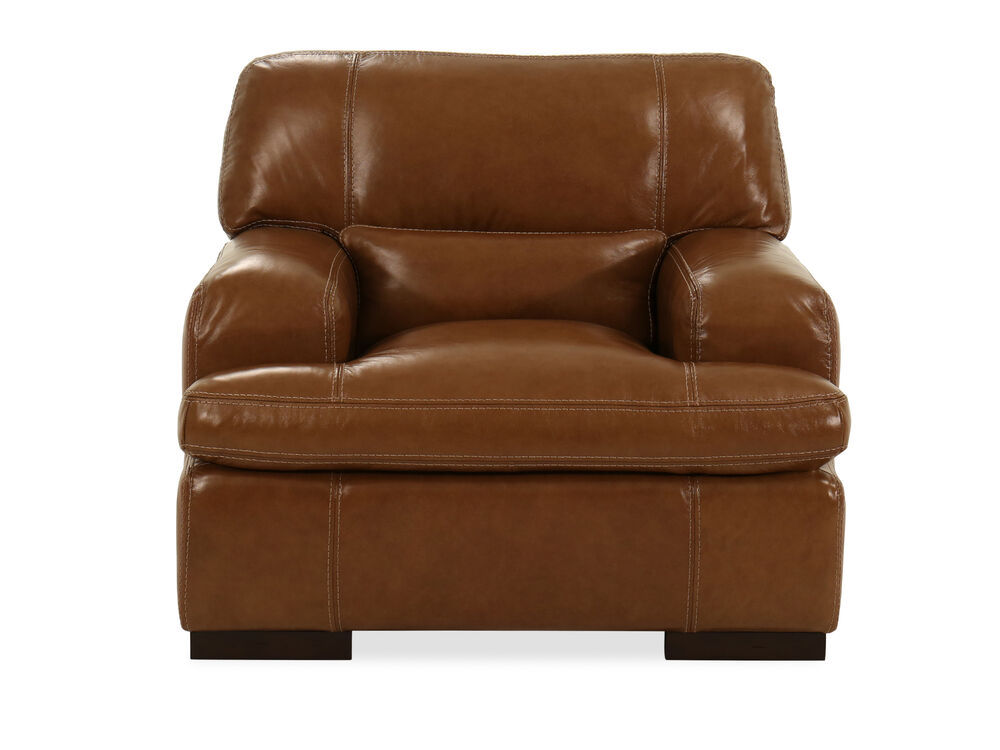 "Leather 43"" Chair in Saddle"