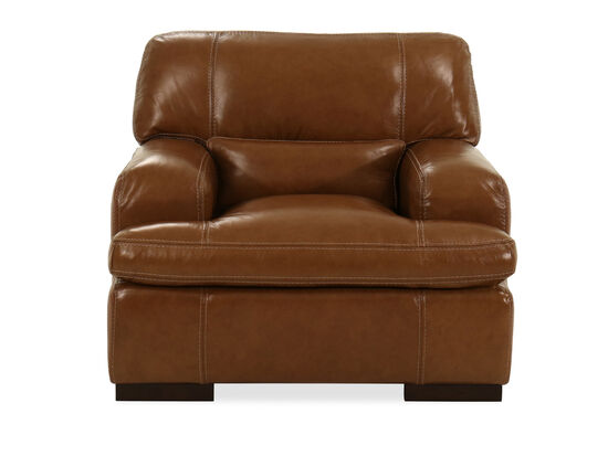 """Leather 43"""" Chair in Saddle"""