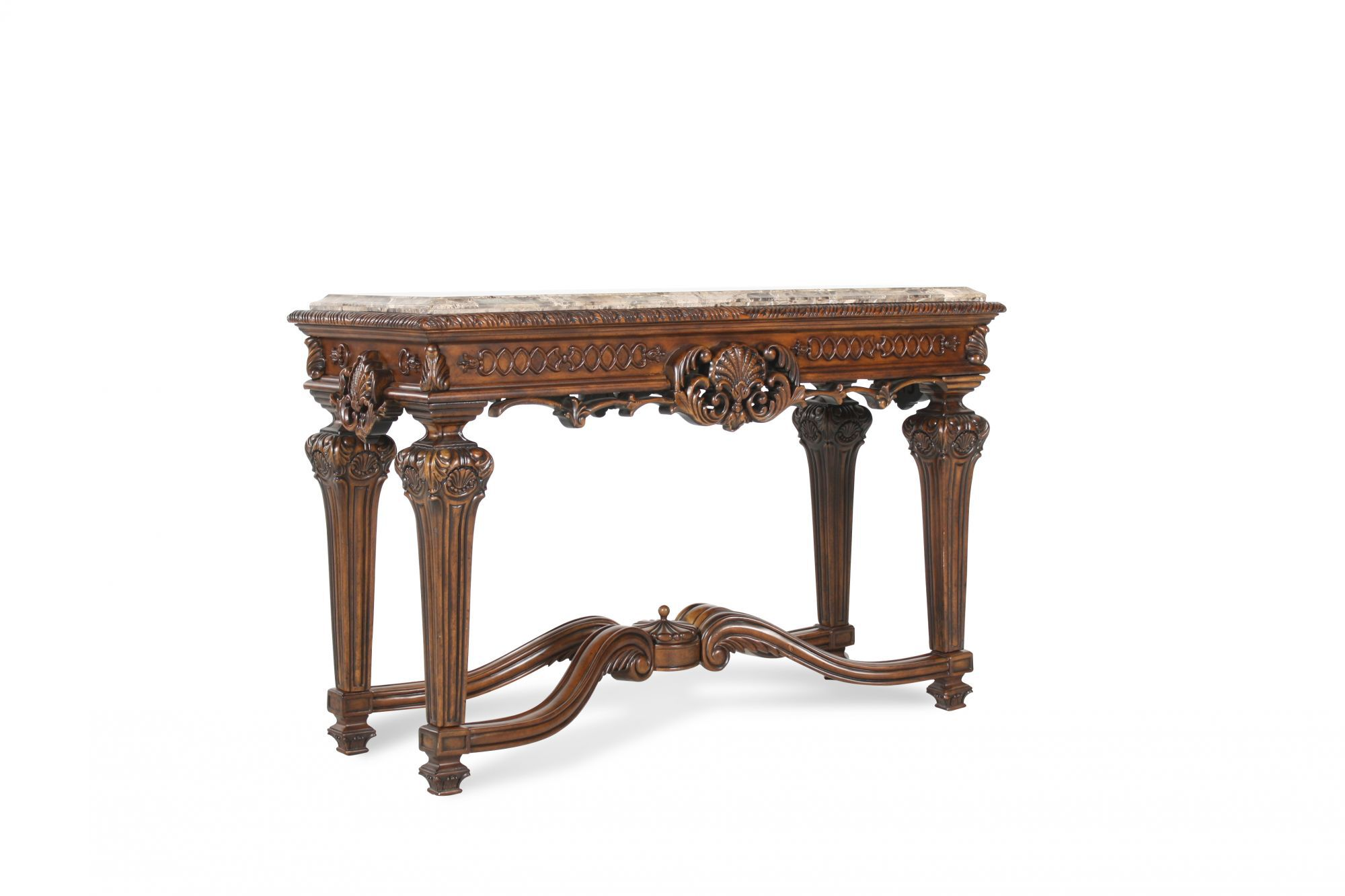 Carved Legs Formal Console Table ...