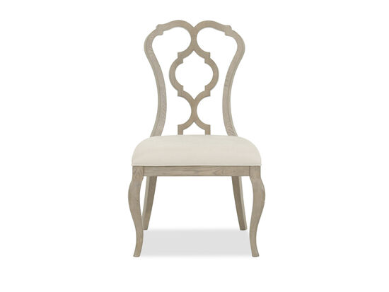 Scroll Back 40'' Side Chair in Cream