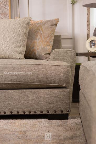 Nailhead-Trim Casual Sofa in Brown