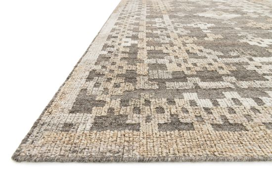 """Transitional 3'-6""""x5'-6"""" Rug in Charcoal/Taupe"""