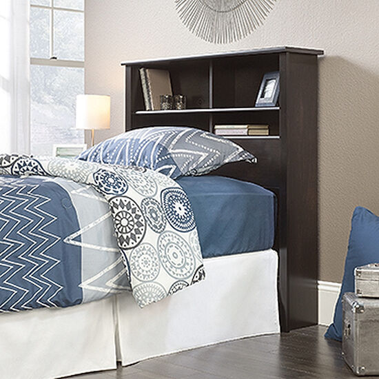 "Contemporary 47"" Twin Bookcase Headboard in Estate Black"