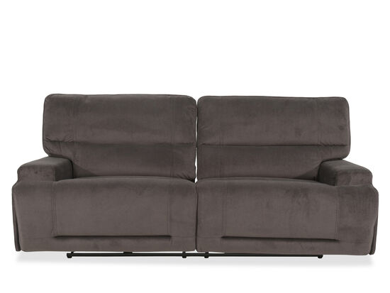 "Casual 91"" Power Reclining Sofa in Gray"