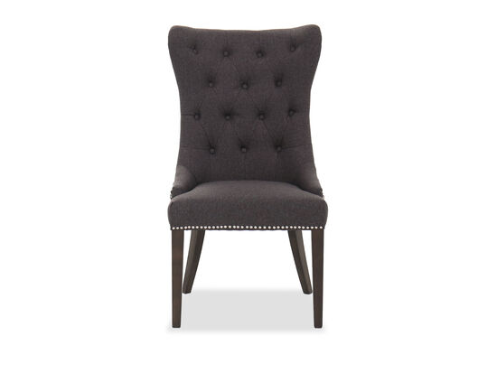 """Contemporary 42"""" Button-Tufted Dining Chair"""