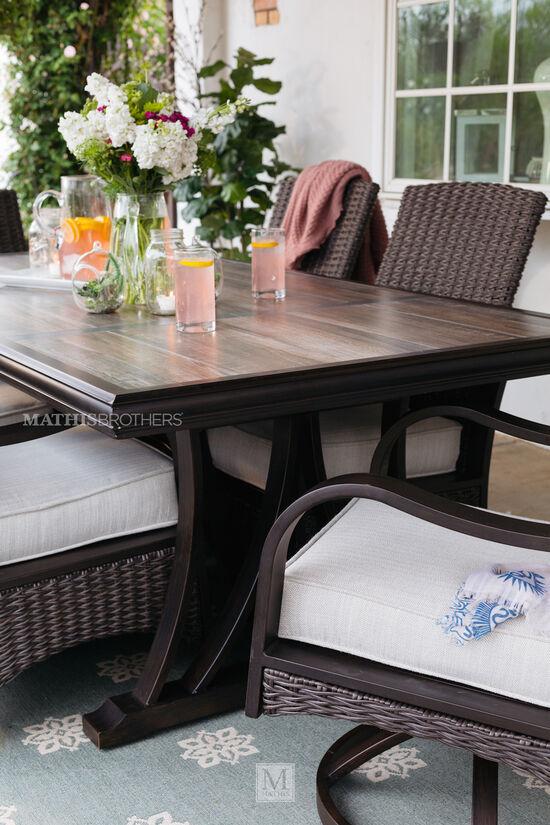 Rectangular Dining Table in Dark Brown