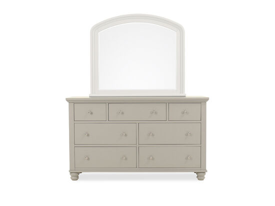 "38"" Transitional Seven-Drawer Double Dresser in Gray"