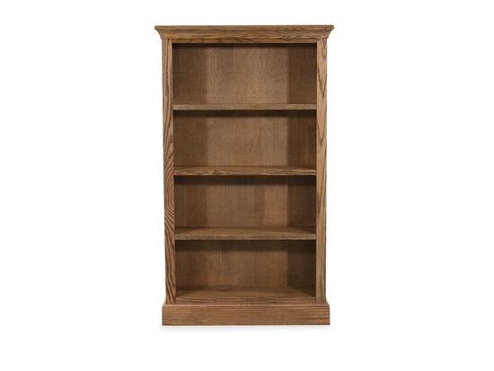 """33"""" Casual Open Bookcase in Glazed Oak"""