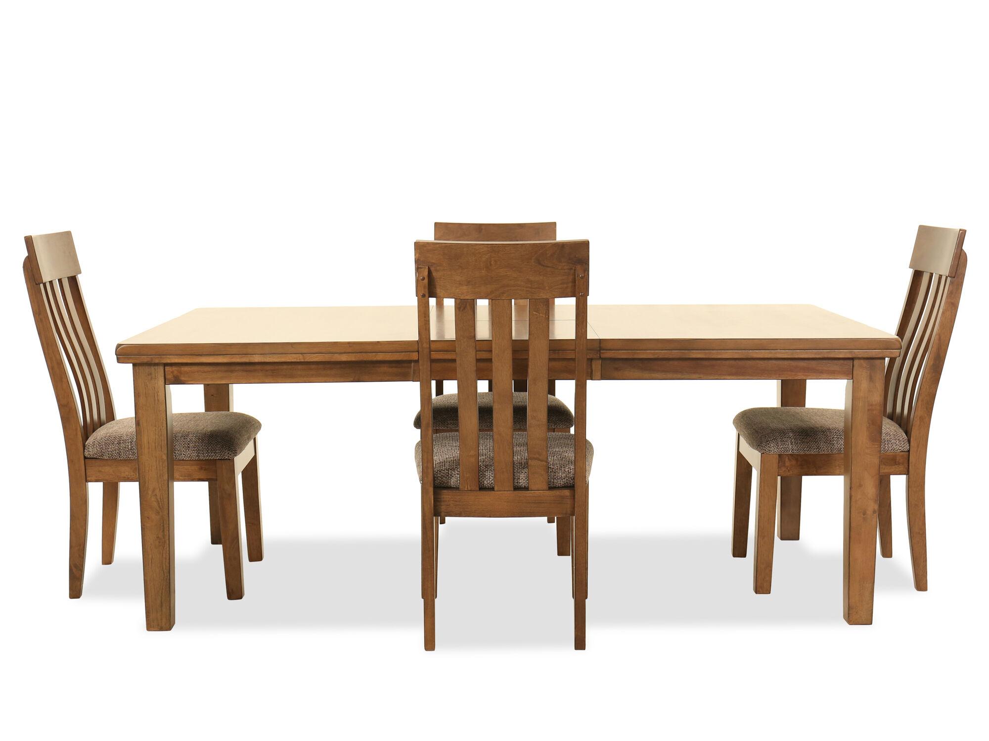Five Piece Casual Rectangular Dining Set In Light Brown