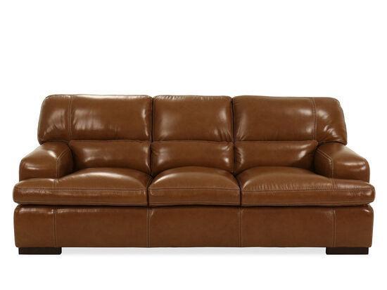 Leather Sofa in Saddle