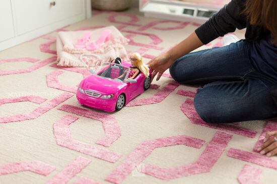Mattel Barbie Doll and Glam Convertible Set