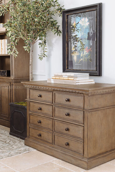 Transitional Combo File in Aged Oak