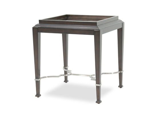 Square Traditional End Table in Raven
